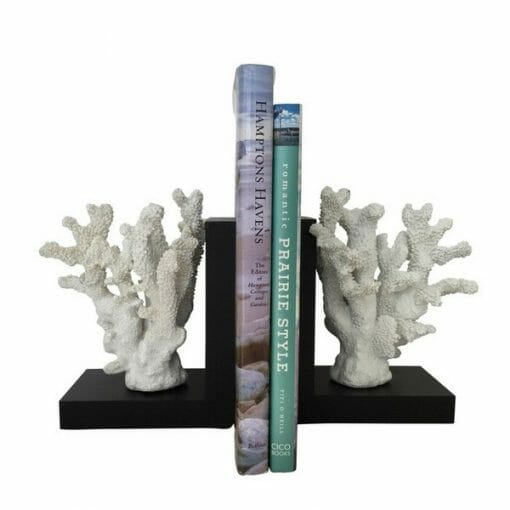 BOOKENDS WITH CORAL