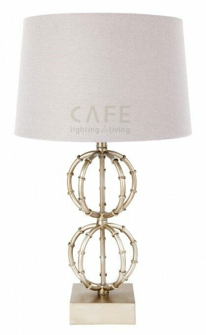 Café Lela table lamp-Antique Silver