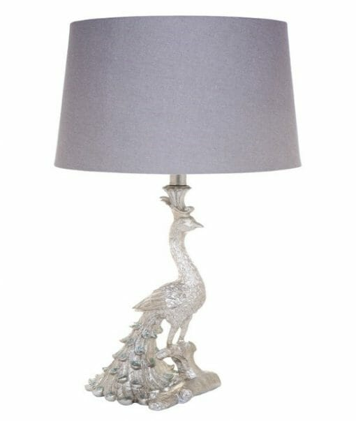 Café Peacock table lamp-Silver