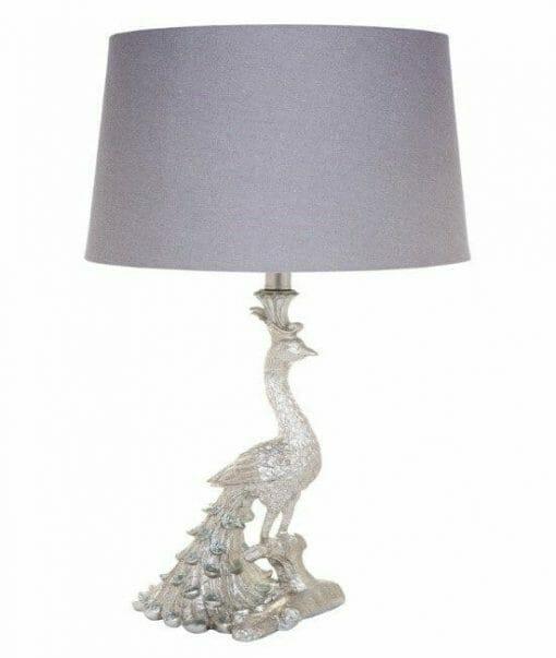 Café Peacock table lamp-Silver