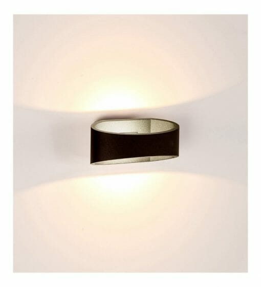 LUXE Black Up & Down LED Wall Light