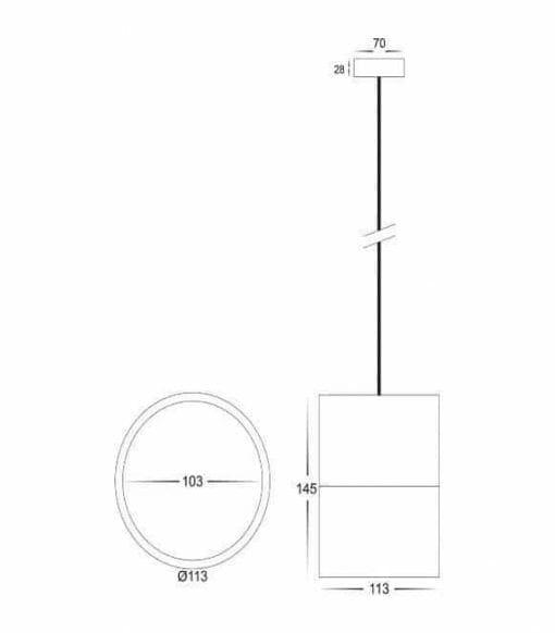 NELLA Black 12w LED Pendant
