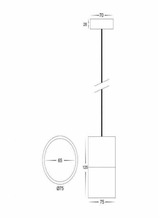 NELLA White 7w LED Pendant