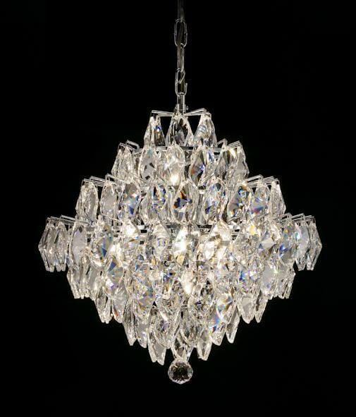 Asfour Crystal 1081 17″ 12 Light Pendeloque
